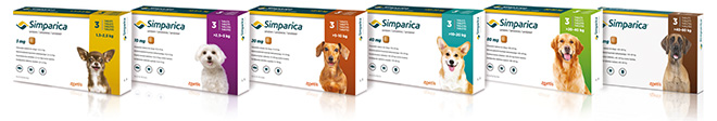 Simparica product range packshots
